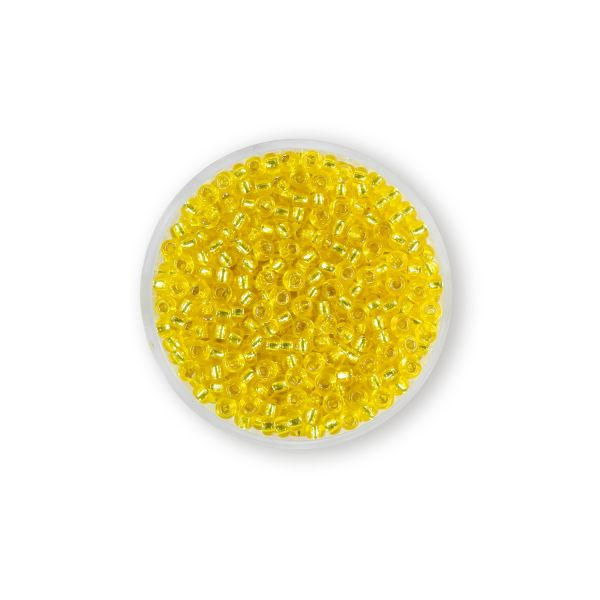 Miyukirocailles 2,5 mm silverlined yellow