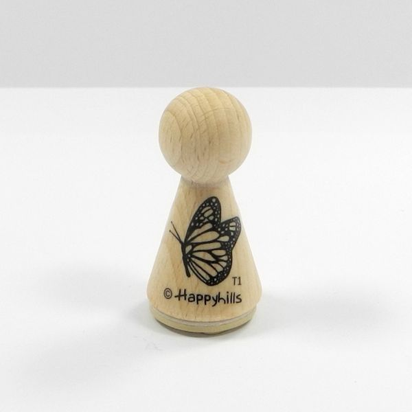 Happyhills Figurenstempel - Schmetterling links