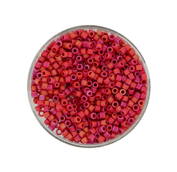 Delica Beads 2,2 mm opal red luster